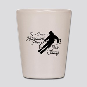 Skiing Retirement Plan Shot Glass