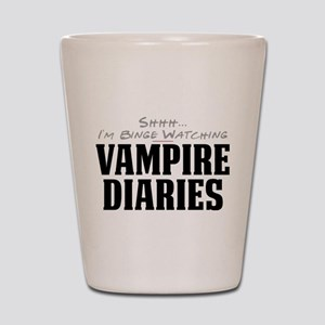 Shhh... I'm Binge Watching Vampire Diaries Shot Gl
