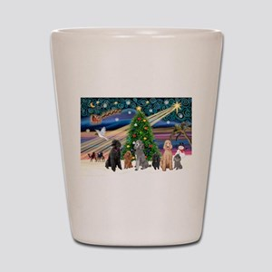 XmasMagic-6 Poodles Shot Glass