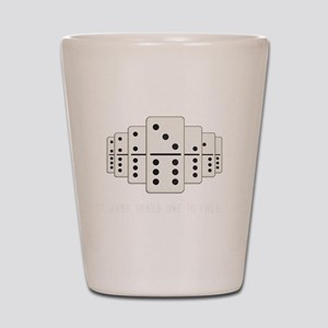 It Just Takes One To Fall Tiles Puzzler Shot Glass