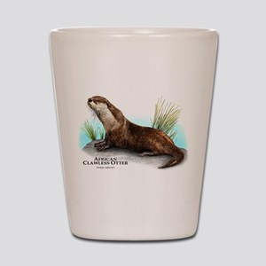 African Clawless Otter Shot Glass