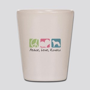 Peace, Love, Kuvasz Shot Glass