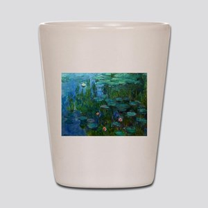 monet nymphea lily pond giverny Shot Glass