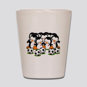 Soccer Penguins Shot Glass