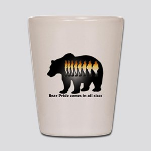 Bear Pride comes in all sizes Shot Glass