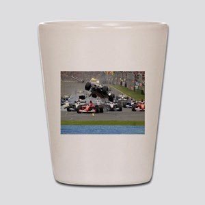 F1 Crash Shot Glass