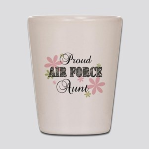 Air Force Aunt [fl camo] Shot Glass