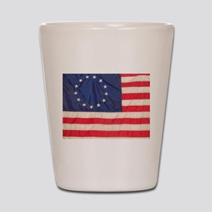 AMERICAN COLONIAL FLAG Shot Glass