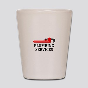 Plumbing Services Shot Glass