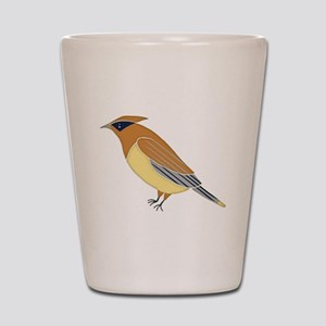 Cedar Waxwing Shot Glass
