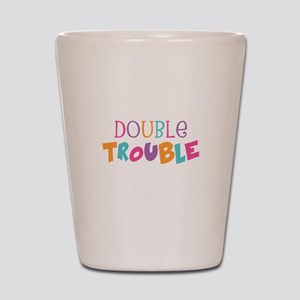 Double Trouble Girls Shot Glass