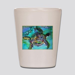 Sea Turtle, Wildlife art! Shot Glass