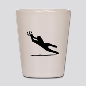 Soccer Goalie Silhouette Shot Glass