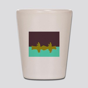 NIGHT SKY CANOE Shot Glass