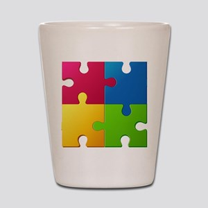 Autism Awareness Puzzle Shot Glass