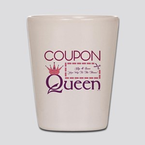COUPON QUEEN Shot Glass