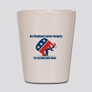 anti republican Shot Glass
