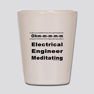 Meditating Electrical Enginee Shot Glass