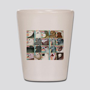Twenty Pigeon Heads Shot Glass
