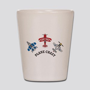 Aviation Plane Crazy Shot Glass