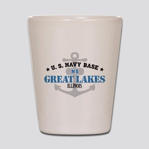 US Navy Great Lakes Base Shot Glass