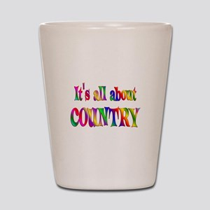 All About Country Shot Glass