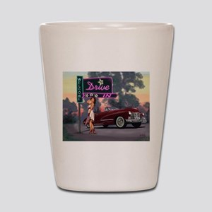 Welcome Drive In Shot Glass