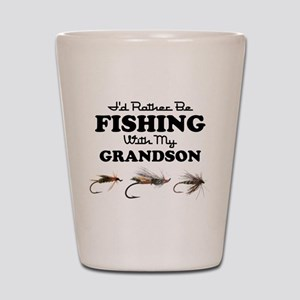 Rather Be Fishing Grandson Shot Glass