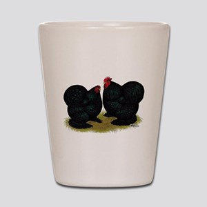 Cochins Black Bantams Shot Glass