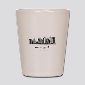 New York City Skyline Shot Glass