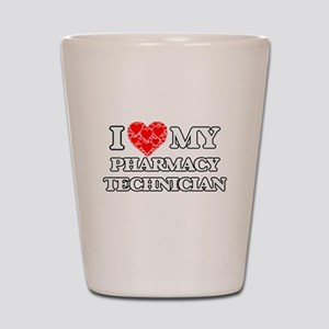 I Love my Pharmacy Technician Shot Glass