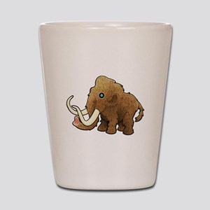 Shaggy Blue Eyed Wooly Mammoth Shot Glass