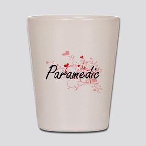 Paramedic Artistic Job Design with Hear Shot Glass