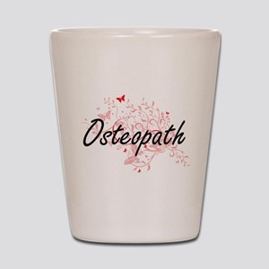 Osteopath Artistic Job Design with Butt Shot Glass