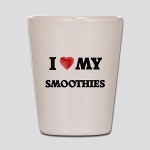 I Love My Smoothies food design Shot Glass
