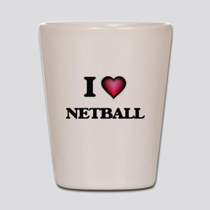 I Love Netball Shot Glass