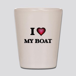I Love My Boat Shot Glass