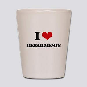 I Love Derailments Shot Glass