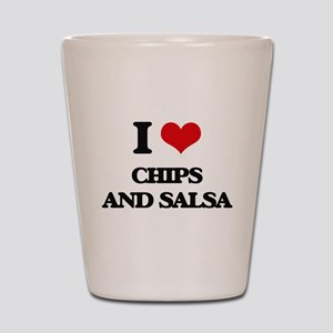 chips and salsa Shot Glass