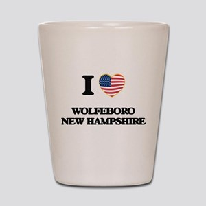 I love Wolfeboro New Hampshire Shot Glass