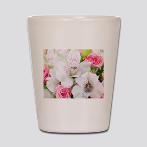 Lilies And Roses Bouchet Shot Glass