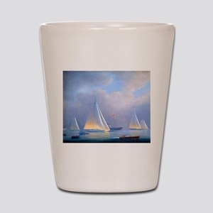 Vintage Sailboat Shot Glass