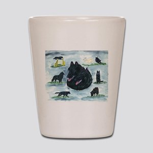 Versatile Belgian Sheepdog Shot Glass