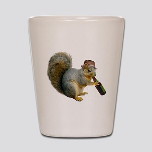Squirrel Beer Hat Shot Glass