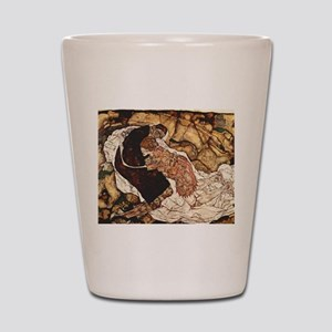 Egon Schiele Death And The Woman Shot Glass