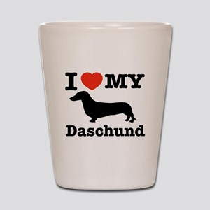 I love my Daschund Shot Glass