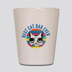 Awesome Retro Best Cat Dad Ever Kitten Shot Glass