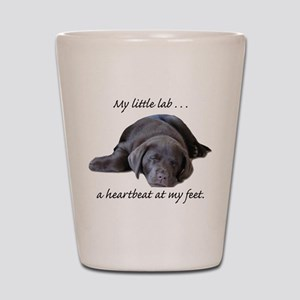 Chocolate Lab Heartbeat Shot Glass