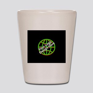 Your Logo over a Black Background Shot Glass