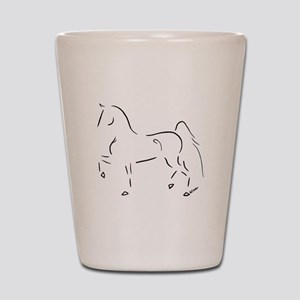 Stylized 3-Gaited American Saddlebred Shot Glass